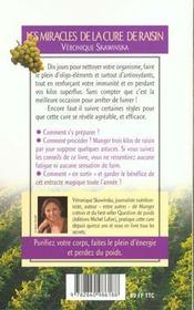 Les miracles de la cure de raisin - 4ème de couverture - Format classique