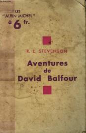Les Aventures De David Balfour. - Couverture - Format classique