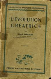 L'Evolution Creatrice - Couverture - Format classique