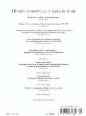Revue Geneses N.50 ; Histoire Economique Et Règles De Droit - 4ème de couverture - Format classique