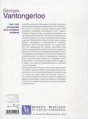 Georges Vantongerloo (1886-1965) un pionnier de la sculpture moderne - 4ème de couverture - Format classique