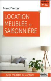 Location meublée et saisonnière (4e édition) - Couverture - Format classique