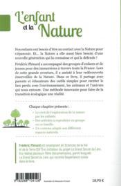 L'enfant et la nature ; et si le lien à la nature était le secret d'une éducation au bonheur ? - 4ème de couverture - Format classique
