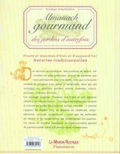 Almanach gourmand des jardins d'autrefois - 4ème de couverture - Format classique
