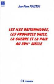 Les iles britanniques, les provinces-unies - Couverture - Format classique