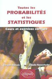 Toutes Les Probabilites Et Les Statistiques - Intérieur - Format classique