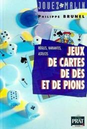 Jeux de cartes de des et de pions - Couverture - Format classique