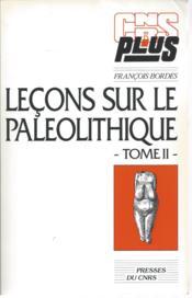 Lecons Sur Le Paleolitique Ii - Couverture - Format classique