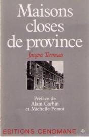 Maisons closes de Province - Couverture - Format classique