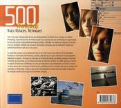 500 trucs, astuces, techniques pour Photoshop - 4ème de couverture - Format classique