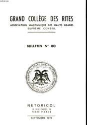 Grand College Des Rites - N°80 - Couverture - Format classique