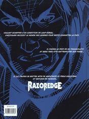 Razoredge T.1 ; Resurrection - 4ème de couverture - Format classique
