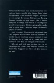 Nils Hazard chasseur d'énigmes ; Nils Hazard dans l'assassin est au collège - 4ème de couverture - Format classique