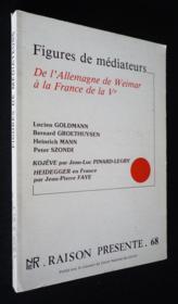 Raison présente (n°68, 4e trimestre 1983) : Figures de médiateurs : de l'Allemagne de Weimar à la France de la Ve - Couverture - Format classique