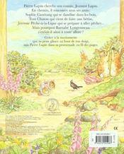 Le livre marionnette de pierre lapin - 4ème de couverture - Format classique