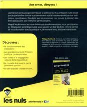 Politique pour les nuls (4e édition) - 4ème de couverture - Format classique