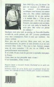 On M'A Vole 37 Ans ; Bloque En Urss - 4ème de couverture - Format classique