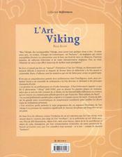 L'Art Viking - 4ème de couverture - Format classique