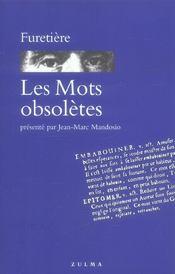 Mots obsoletes (les) - Intérieur - Format classique