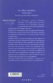 Mots obsoletes (les) - 4ème de couverture - Format classique