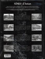 Nîmes d'antan - 4ème de couverture - Format classique