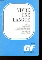Vivire Une Langue - Couverture - Format classique