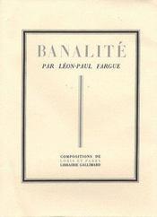 Banalité - Intérieur - Format classique