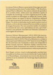 Noirs et blancs : esquisses de Bourbon - 4ème de couverture - Format classique
