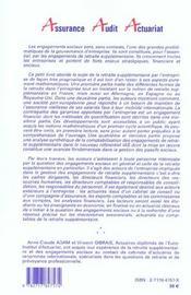 Calcul Des Engagements De Retraite Supplementaire - 4ème de couverture - Format classique