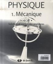 Physique t.1 ; mécanique - 4ème de couverture - Format classique