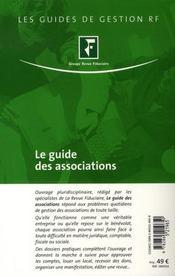 Le guide des associations (7e édition) - 4ème de couverture - Format classique