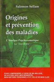 Origines et prevention des maladies - Intérieur - Format classique