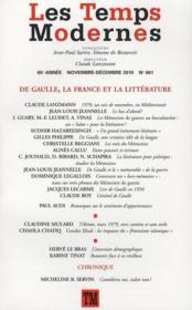 Revue Les Temps Modernes N.661 ; De Gaulle, La France Et La Littérature ; Novembre-Décembre 2010 - Couverture - Format classique