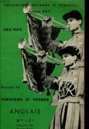 Recueil De Versions Et Themes Anglais 2me - 1re - Concours Des Grandes Ecoles - Serie Verte - Couverture - Format classique