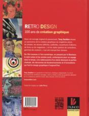 Retro design ; 100 ans de création graphique - 4ème de couverture - Format classique