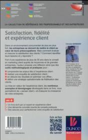 Satisfaction, fidélité et expérience client - 4ème de couverture - Format classique