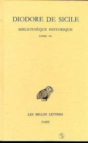 Bibliothèque historique t.3 ; livre 3 - Couverture - Format classique