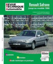 REVUE TECHNIQUE AUTOMOBILE N.722.2 ; Renault Safrane ess/diesel (92-96) - Couverture - Format classique