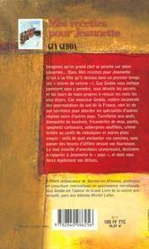 Recettes Pour Jeannette - 4ème de couverture - Format classique