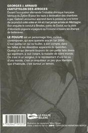 L Antizyklon Des Atroces - 4ème de couverture - Format classique