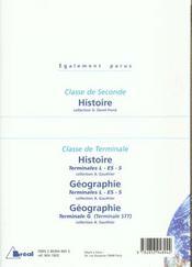 Les hommes et la Terre ; géographie ; classe de seconde - 4ème de couverture - Format classique