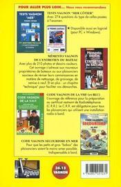 Code Vagnon De La Mer. Vol. 1. Permis Cotier - 4ème de couverture - Format classique