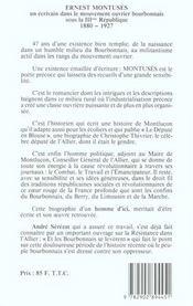 Ernest Montusès - 4ème de couverture - Format classique