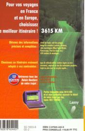 Le Guide Des Relais Routiers 2000 - 4ème de couverture - Format classique