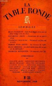 La Table Ronde, N° 35, Nov. 1950 - Couverture - Format classique
