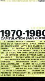 1970-1980 - Capitulation Sans Guerre - Couverture - Format classique