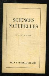 Catalogue De Livres De Sciences Naturelles Du N° 11217 Au N° 12886. - Couverture - Format classique