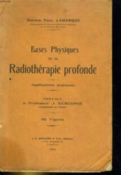 Base Physiques de la Radiothérapie profonde - Couverture - Format classique