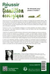 Réussir sa transition écologique - 4ème de couverture - Format classique