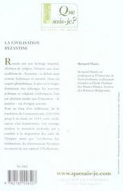 La civilisation byzantine - 4ème de couverture - Format classique